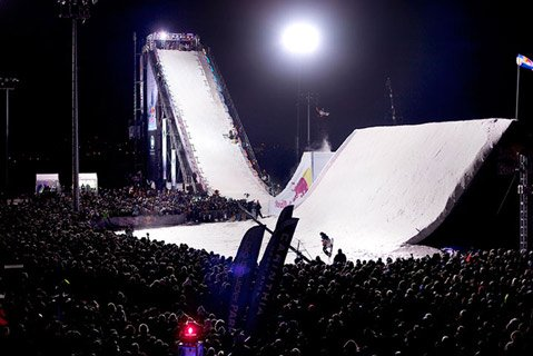 Night Snowboarding Red Bull Style!