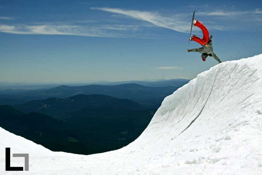 Seth Hill. Handplant. High Cascade Snowboard Camp.